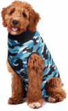 Recovery Vest for dogs - Camo blue